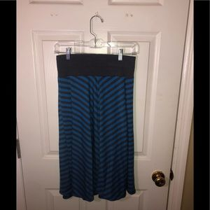 Old Navy- Blue/gray striped skirt- Size S (EUC)